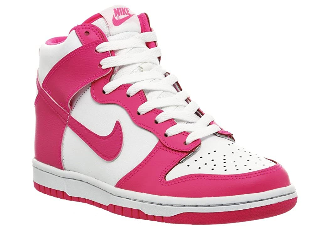 pretty nice f04e3 cdcaf Nike Dunk High (GS) Girl s Leather Hi-Tops (3 UK, Pink White Purple)   Amazon.co.uk  Shoes   Bags