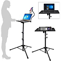 Projector Laptop Tripod Stand - Computer, Tablet, DJ Equipment Holder Mount with Gooseneck Phone Holder Height…