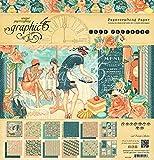 Graphic 45 4501436 Cafe Parisian 12 x 12 Pad