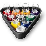 Lot de verres à liqueur de billard (Lot de 10)