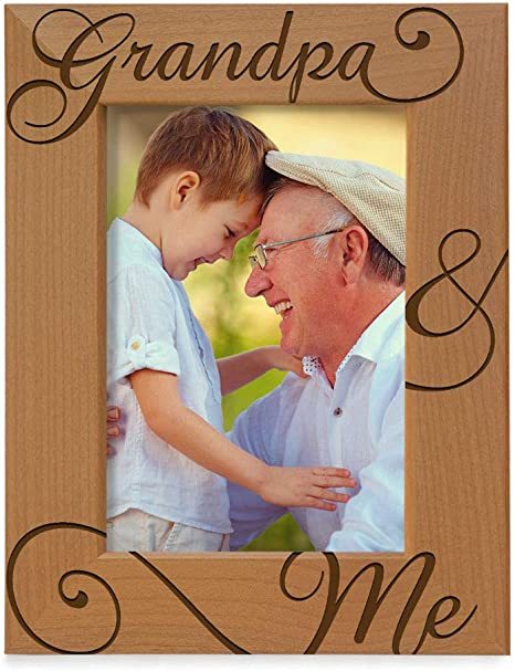 Father/'s Day Picture on Wood Gift for Dad Rustic Fathers Day portrait Father/'s Day Photo on wood Custom picture frame on live edge