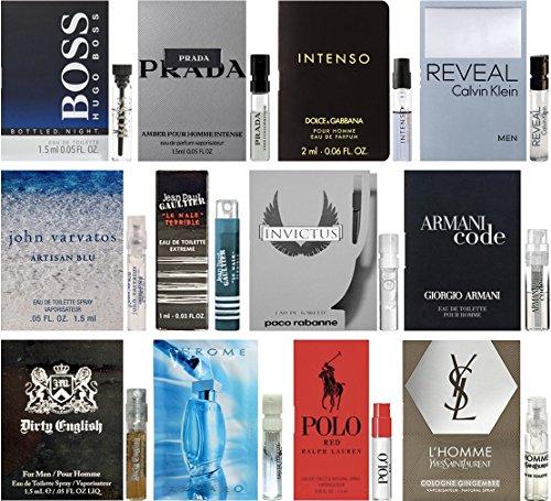 Lot of 12 Vial Samples - Men's Fragrance Cologne Sampler