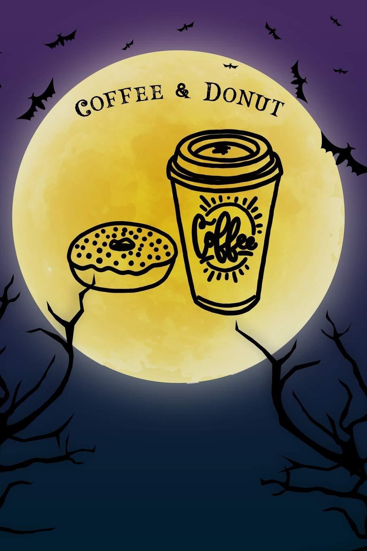Halloween Ijs.Coffee Donut Notebook Halloween Journal Spooky Halloween
