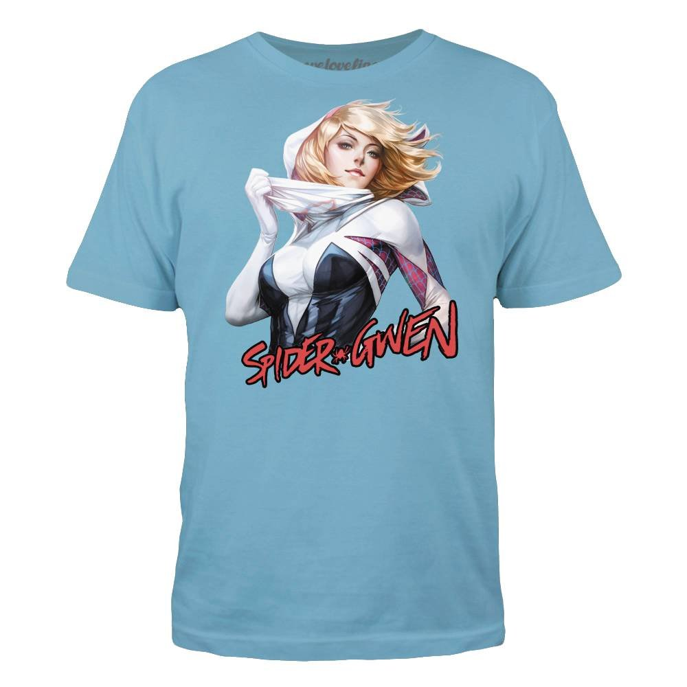 Marvel Spider-Gwen Unmasked Mens Blue T-Shirt