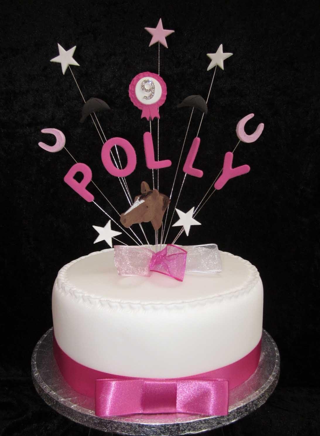 Fine Personalised Horse Rosette Etc Birthday Cake Topper Any Name Ages Personalised Birthday Cards Xaembasilily Jamesorg