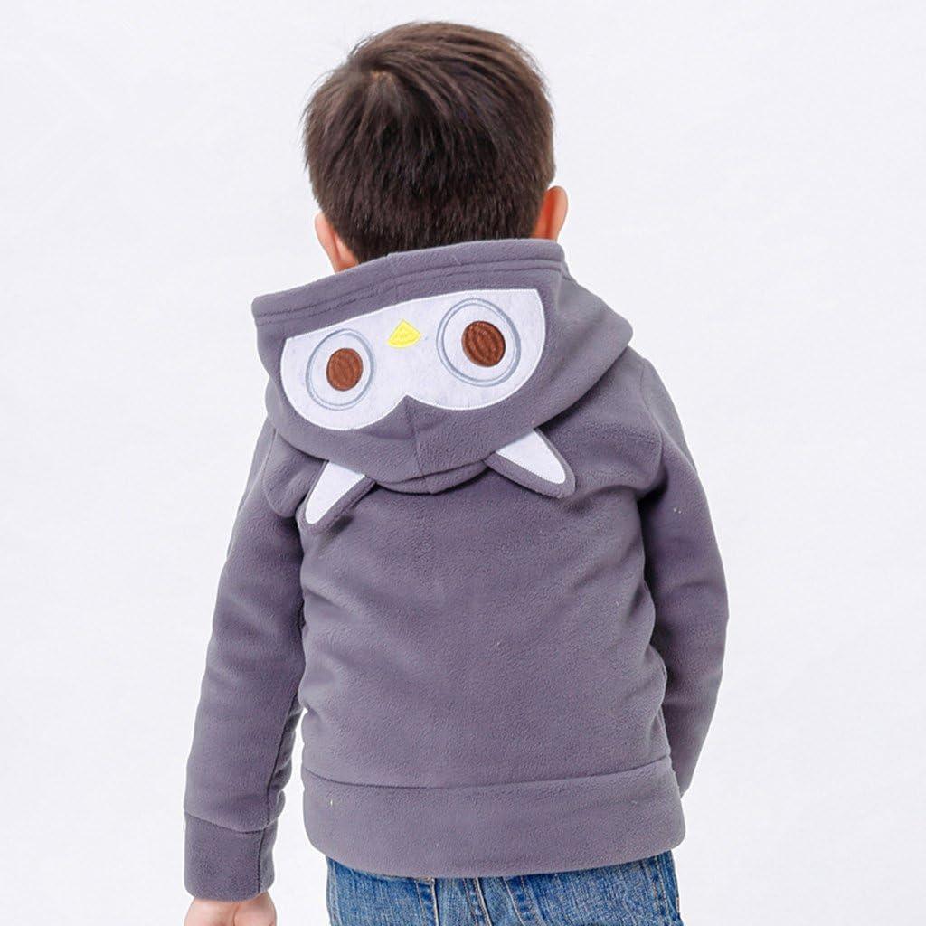 Vine Baby Polar Fleece Jackets Hoodie Coats Boys Girls Spring Outerwear Front Zip