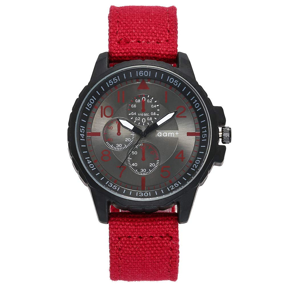 ... Black Stainless Steel Case Nylon Strap Under 55 Casual Analog Quartz Watch Wrist Watchs on Sale on Clearance Relojes De Hombre Birthday Gifts for Men