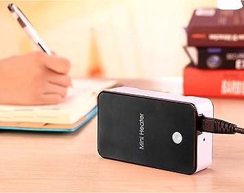 beautyjourney Mini Calefactor Calentador de Ventilador portátil Ventilador eléctrico pequeño Termoventiladores de Escritorio práctico 200W (Talla única, ...