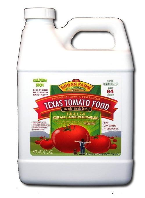 Urban Granja Fertilizantes Texas Tomate Fertilizante de alimentos, 1 ...