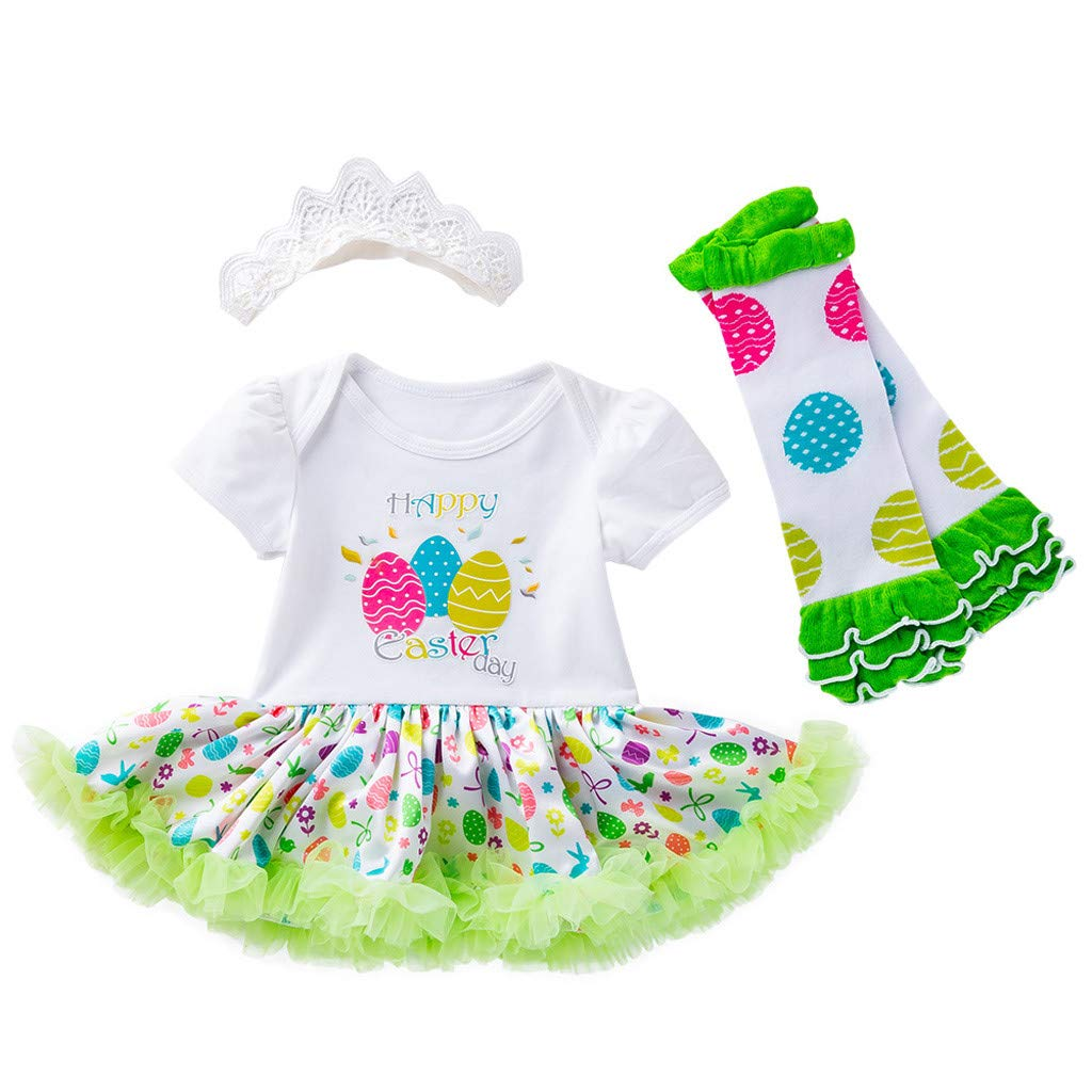 Infant Baby Newborn Girl Headband+Romper Bodysuit+Skirt+Shoes Outfit Clothes Set