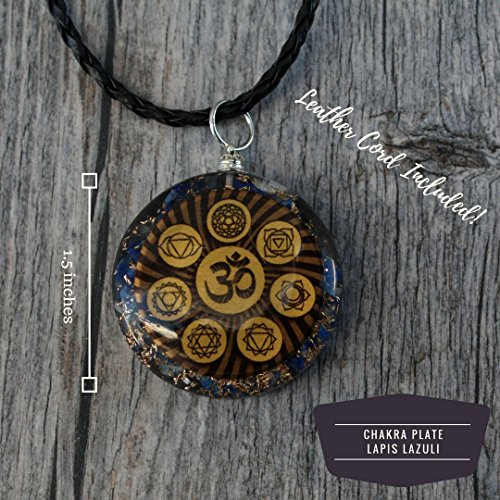 Reversible Orgonite Mixed Chakra Orgone Pendant – Revitalization and relaxation Chi energy enhancing Tree of Life, Lapis Lazuli, Crystal necklace- Tesla Coil 4 Styles- Unisex