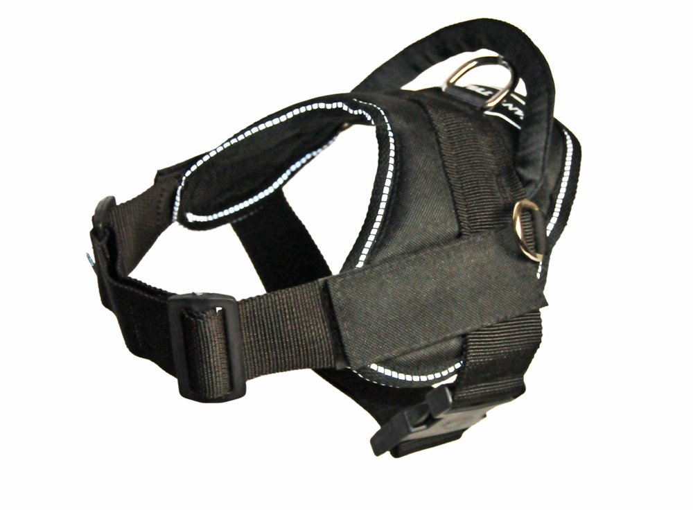 Dean & Tyler New  DT FUN  Harness With Velcro PatchesClear Patches White Reflective Trim XXSmallFits Girth 46cm 56cm Double Ply Nylon Put Any Velcro Patches On It