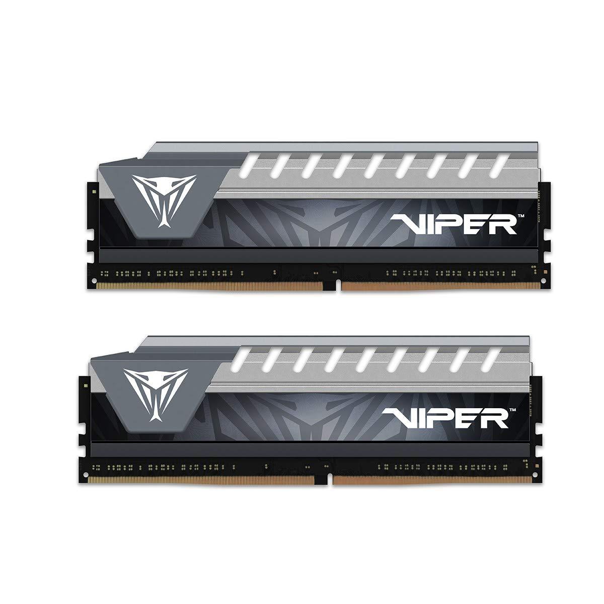 PATRIOT パトリオットメモリー デスクトップ用メモリ Viper Elite シリーズ DDR4 2666MHz (PC4-21300) 8GBx2 ブラック・グレーヒートシンク PVE416G266C6KGY