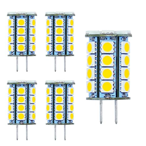GY6.35 Bombillas LED G6.35 Base Bippin LED Bombilla 5W AC DC 12V