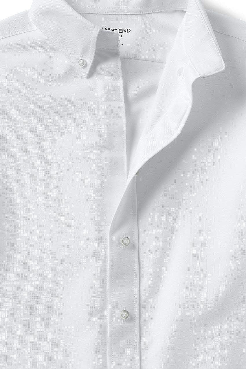 Lands End School Uniform Mens Adaptive Long Sleeve Oxford Dress Shirt