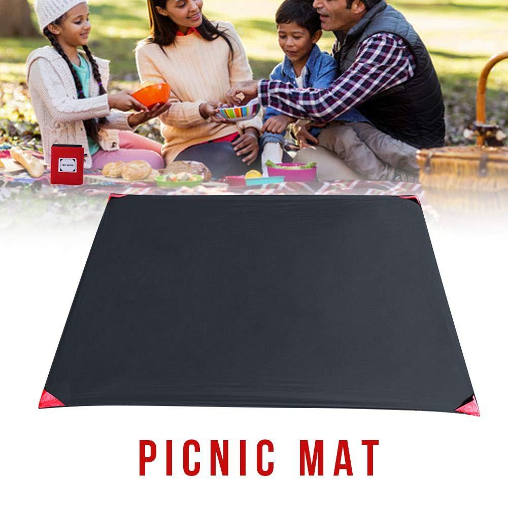 Al aire libre impermeable estera plegable de picnic playa de camping manta de senderismo festival festival manta de viaje