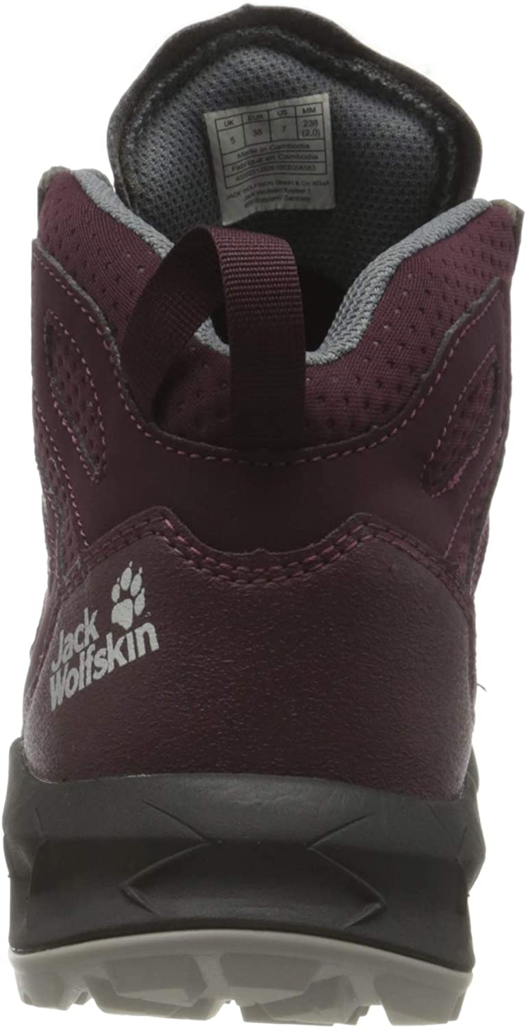 Jack Wolfskin Women's Woodland Texapore Mid W Outdoor Shoes Burgundy Pink