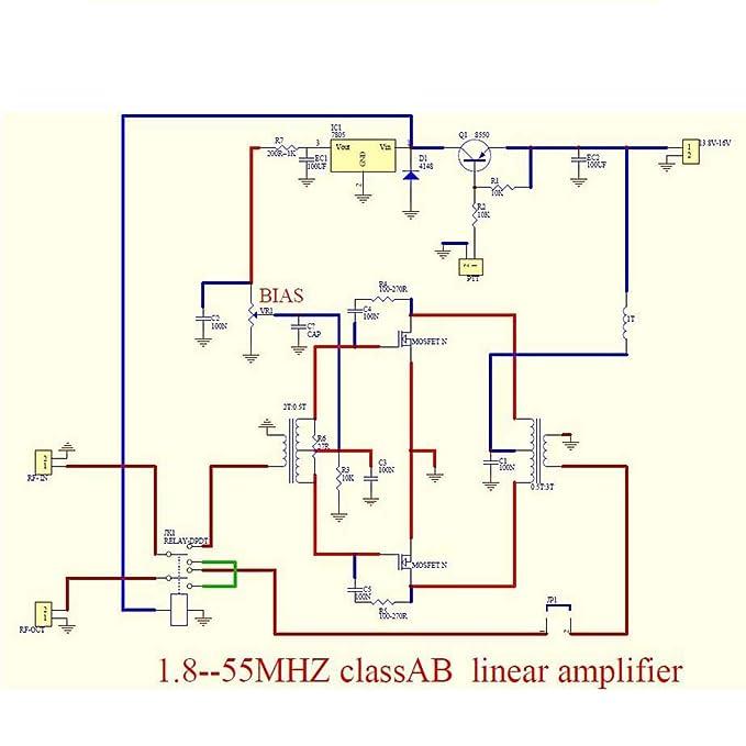 Amazon.com : scenario DIY Kits 100W SSB Linear HF Power ... on