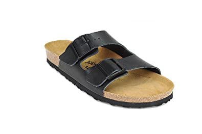 JOE N JOYCE Unisex London Leder Soft Fußbett Sandalen Darkbrown Größe 40 EU Normal CmZ6KIGB3H