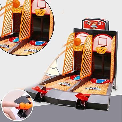 Cplapll Regalos para Navidad Año, Mini Baloncesto Juego de Mesa de Baloncesto Juguetes Familia Deporte Juego Home Basket Bolas Regalo: Amazon.es: Coche y moto