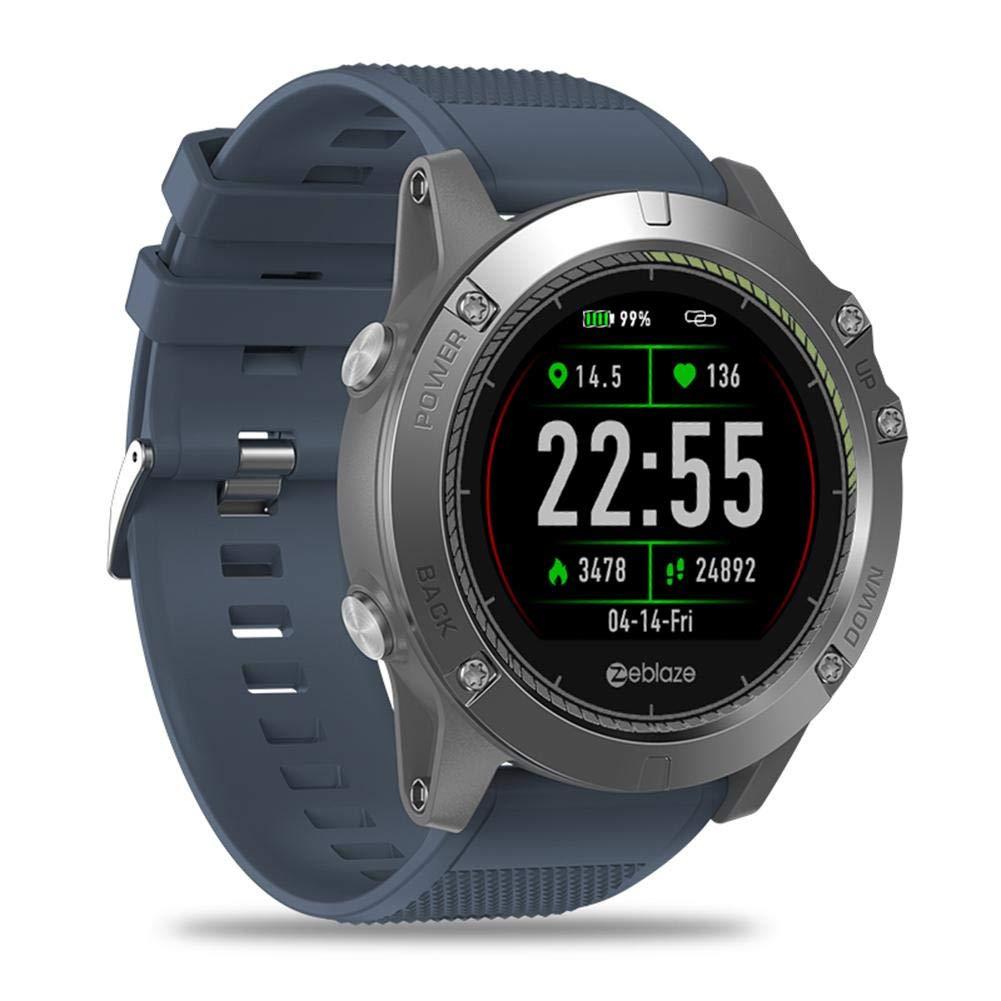 Amazon.com: Zeblaze Vibe 3 Smart Watch (Blue), HR Rugged ...