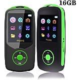 Lettore MP3 bluetooth 16 GB Lettore musicale portatile senza fili Sport MP4 Supporto massimo 64 gb Memoria verde
