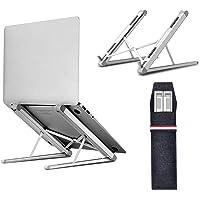 Laptop Stand, Tendak Portable Computer Desktop Stand Adjustable Foldable Travel Notebook Holder Mount for MacBook/Lenovo…