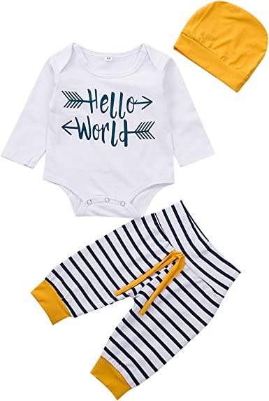 Baby Boy Clothes Set 0 to 3 Months Baby Boys Clothes Baby Announcement. Hat and Card Gift Set Photo Prop Baby Clothes New Born   Romper