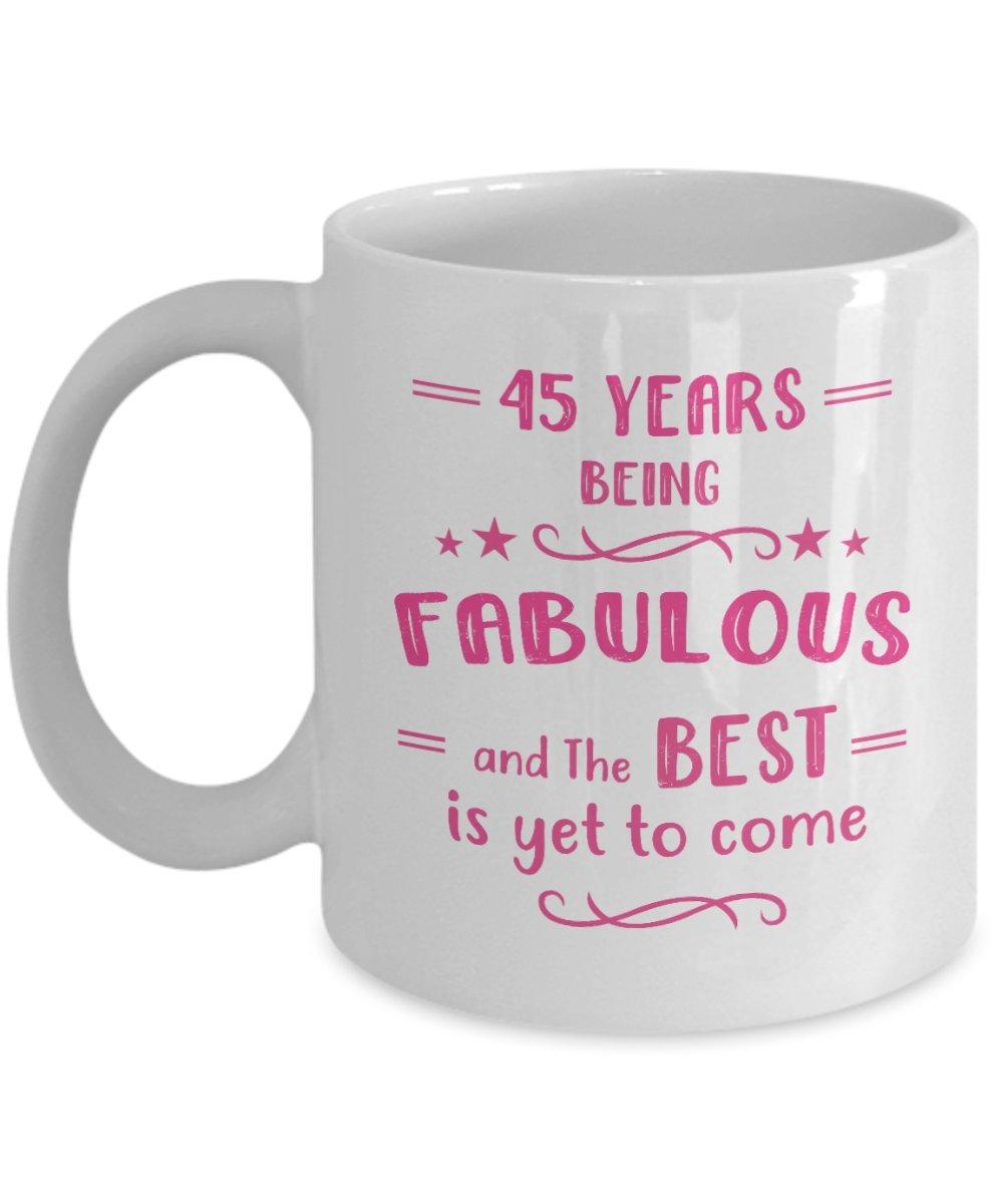 Amazon Happy 45th Birthday Mug