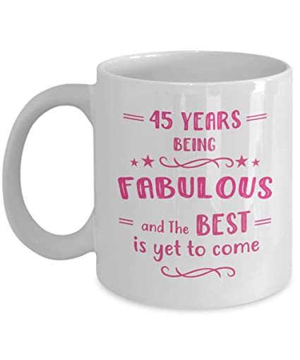 Amazon Happy 45th Birthday Mug
