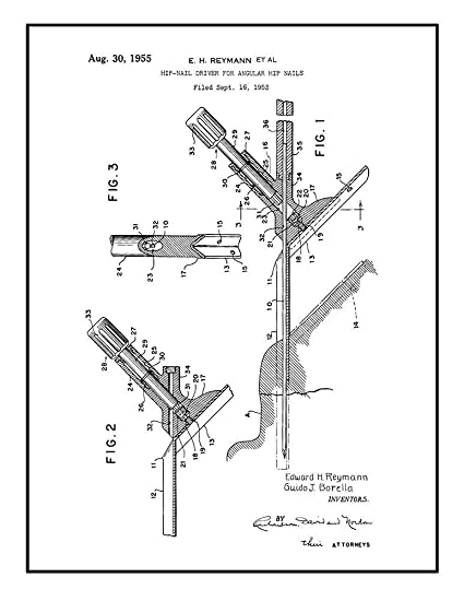 Amazon Com Hip Nail Driver For Angular Hip Nails Patent Print Black