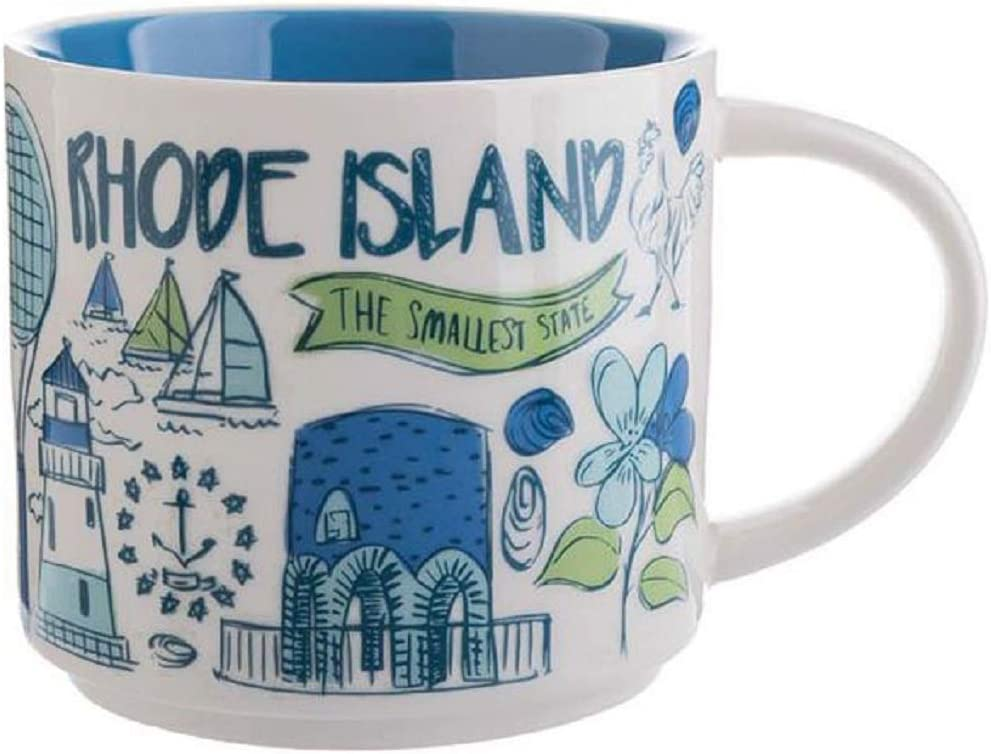 Amazon Com Starbucks Rhode Island Been There Series Across The Globe Collection Coffee Mug 14 Ounce Kitchen Dining
