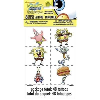 SpongeBob SquarePants Tattoos, 48ct: Toys & Games