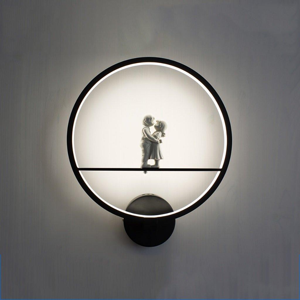 wandlampe LED Wandleuchten Wohnzimmer Schlafzimmer Deckenleuchten LED Indoor Wandleuchte Modern Home Lighting Wand montiert LED Wandleuchte Schlafzimmerleuchten (Farbe   SCHWARZ-30  35cm-B)
