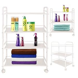 AllRight Beauty Salon Shelfs Therapy Trolley Dentist Wax Hairdresser 4 Shelves Mini Side