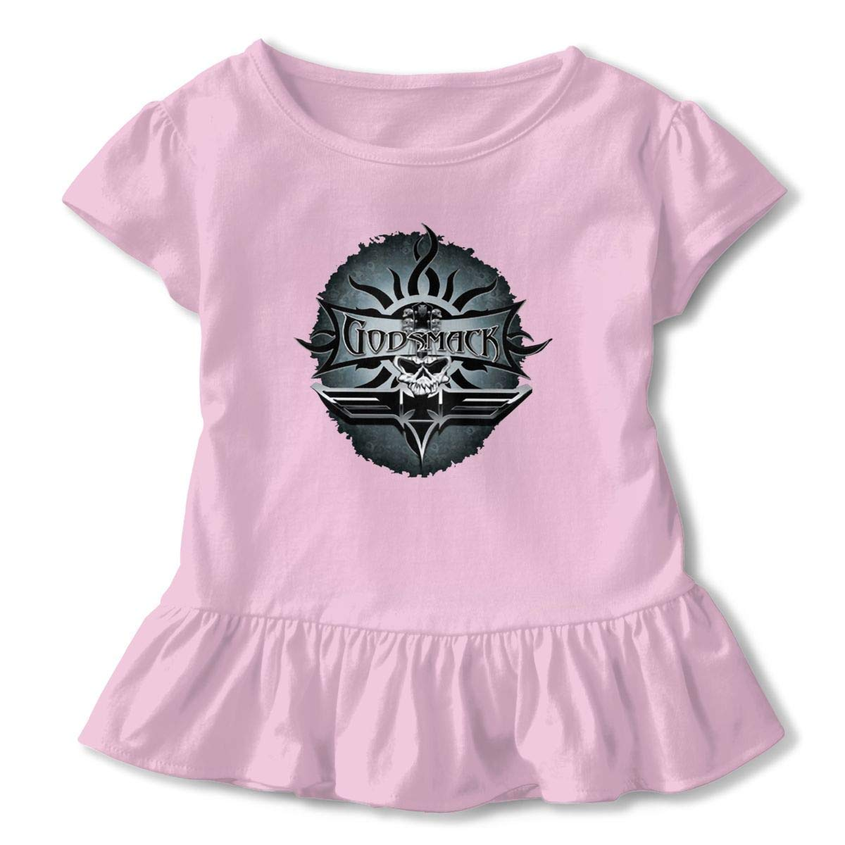 Kid T Shirt Godsmack Smack Art 3D Tee Baseball Ruffle Short Sleeve Cotton Shirts Top for Girls Kids