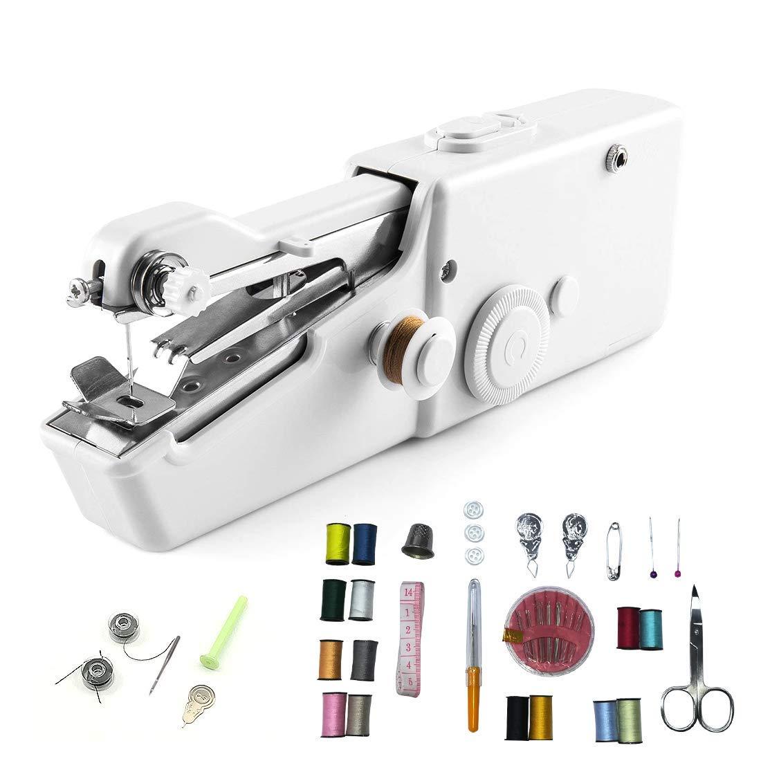 Handheld Strumento di Cucitura Rapida con Set da Cucito per Viaggi e casa YOMYM Mini Macchina da Cucire Portatile