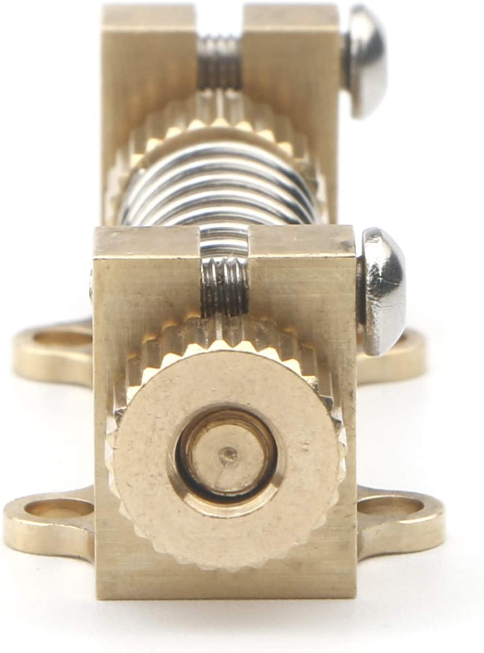Unxuey Guitar Brass Tremolo Stabilizer Bridge System Spring Stopper DeviceElectric Guitar Parts Device Kit for Fender Electric Guitars Accessories