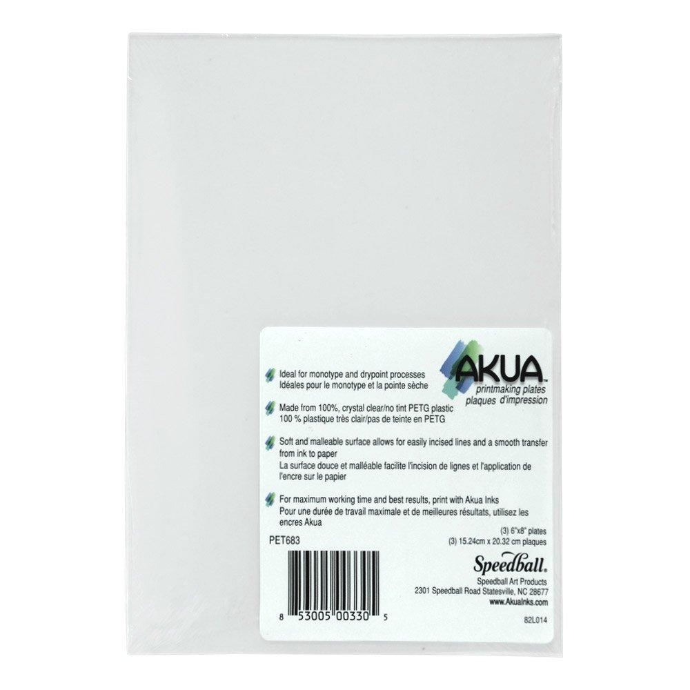 Akua Printing Plates 3-Pack 6 x 8 3/Pkg. SPEEDBALL ART PRODUCTS