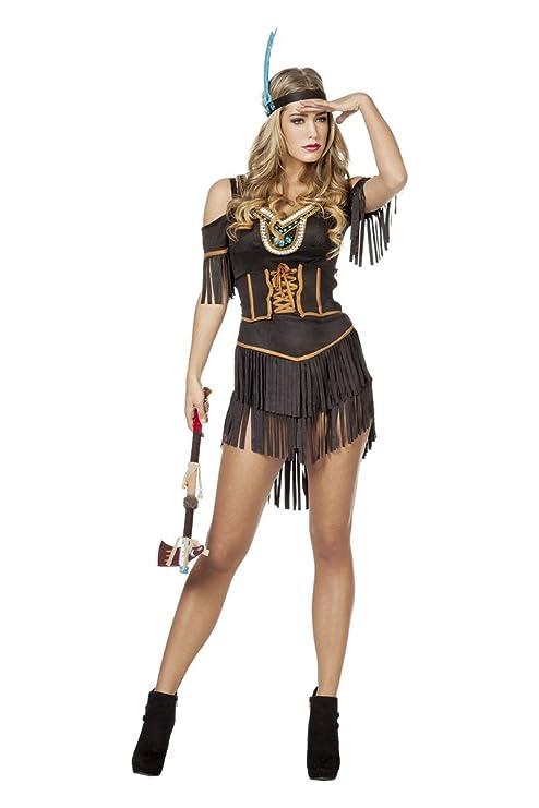 Generique - Disfraz India Marrón Sexy Mujer L (44): Amazon ...