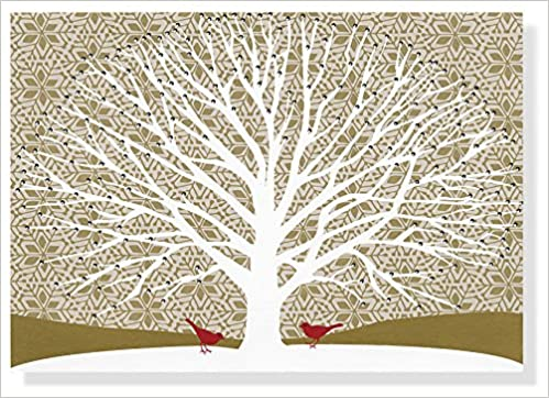 tree of life large boxed holiday cards christmas cards holiday cards greeting cards inc peter pauper press 9781441304728 amazoncom books