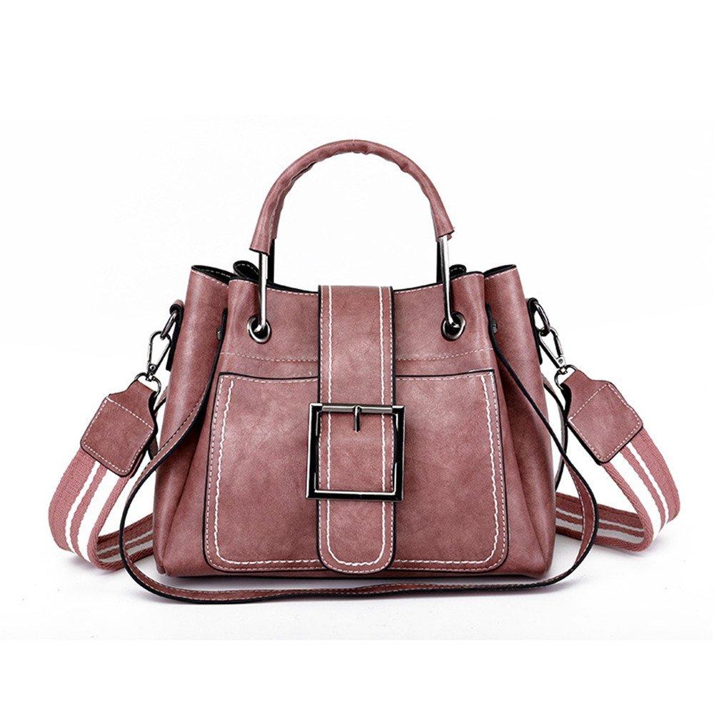 Meaeo Neue Damen Damen Damen Tasche Mode Handtasche Breiten Schultergurt Große Tasche Messenger Bag Beiläufige Umhängetasche, Rosa B07FLYZBRB Schultertaschen Mangelware c28e35