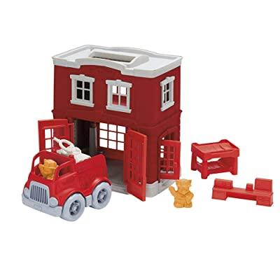 Green Toys Fire Station Playset: Toys & Games