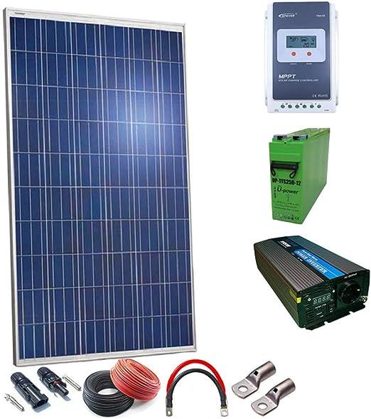 Kit Solar 12v Plus 500w Hora 2500w Dia Inversor Onda Pura ...
