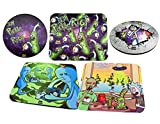 Dabmatz [5 dabmat bundle] Rick and Morty Editions Trippy Rick, Szechuan Sesh, Pickle Rick, Eternity of Meeseeks, Pickle Rick Pattern. 8x10 Square and 8 inch circle Mousepad Style dabmats | dabpads