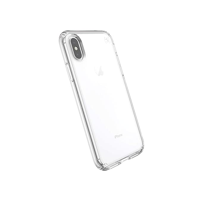 new product 90afd 3bee2 Speck Products Compatible Phone Case for Apple iPhone XS/iPhone X, PRESIDIO  STAY CLEAR Case, Clear/Clear