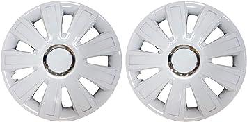 UKB4C Pair Of White 13 Caravan Wheel Trims Hub Caps for Elddis EX 300 Hurricane 1997
