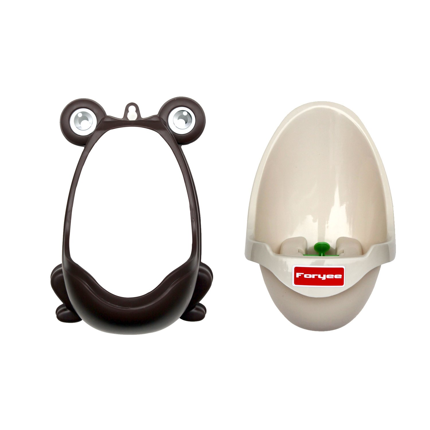 Foryee Cute Frog Potty Training Urinal for Boys with Funny Aiming Target Coffee