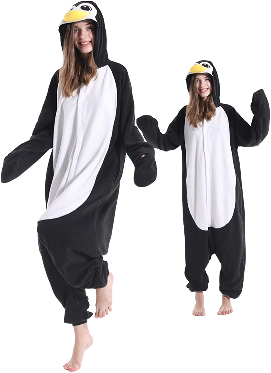 Smiffys Mens Penguin Costume All in One with Hood