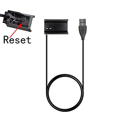 FitBit Alta Chargeur, ifeeker 1m/3.3ft câble USB de charge Chargeur de rechange de montage unique Noir avec fonction reset pour Fitbit Alta Smart Tracker de fitness